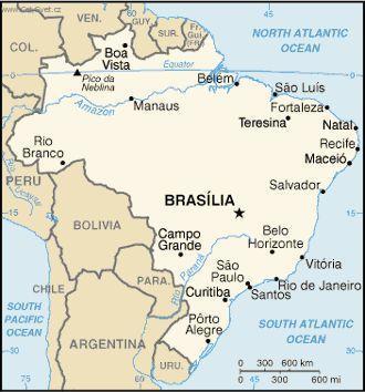 Foto Brazilie Politicka Mapa