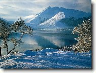"""Предпросмотр схемы вышивки  """"озеро в горах """" ."""