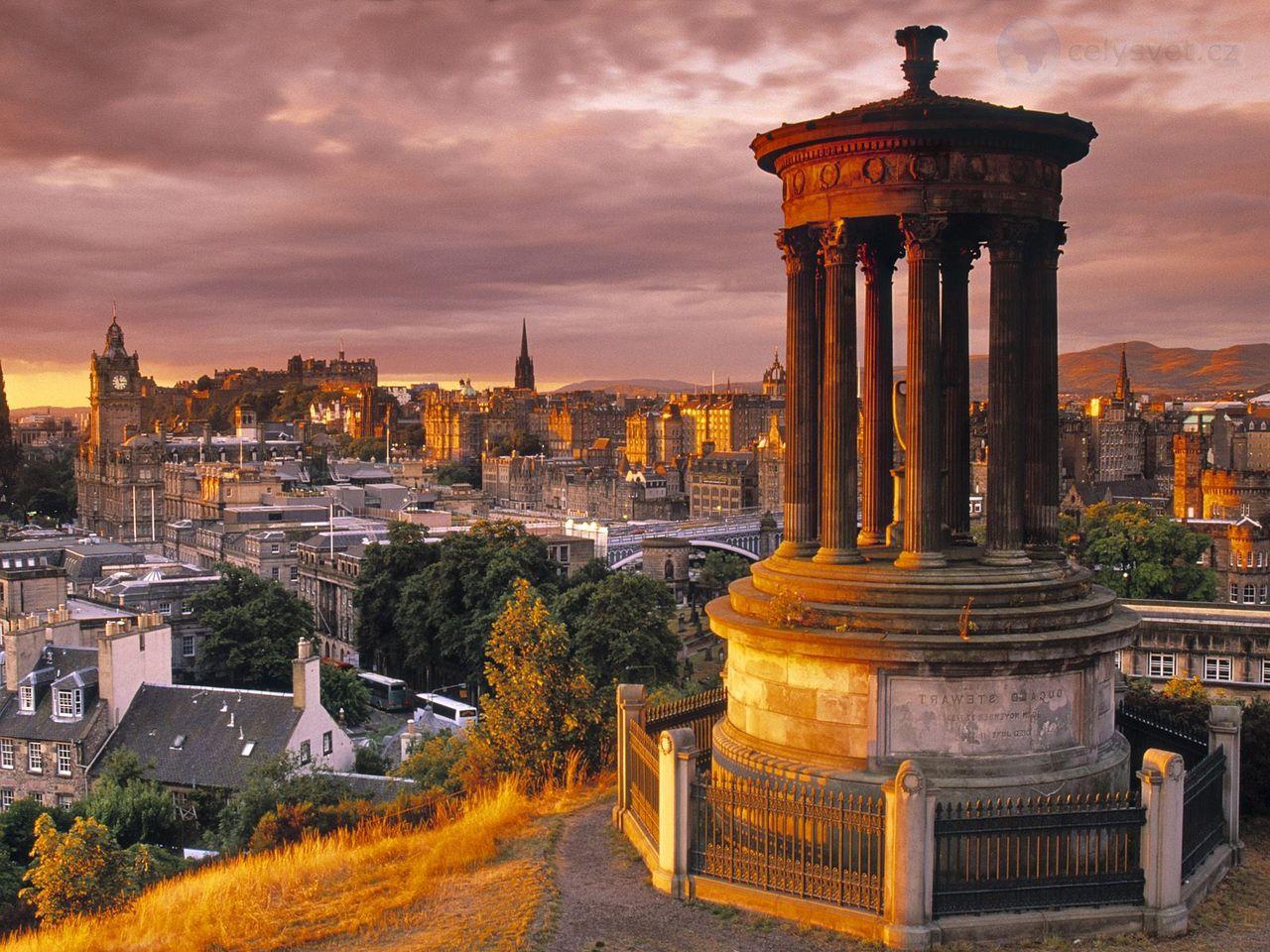 Обои dugald stewart monument, scotland, Шотландия, эдинбург, edinburgh, calton hill. Города foto 9