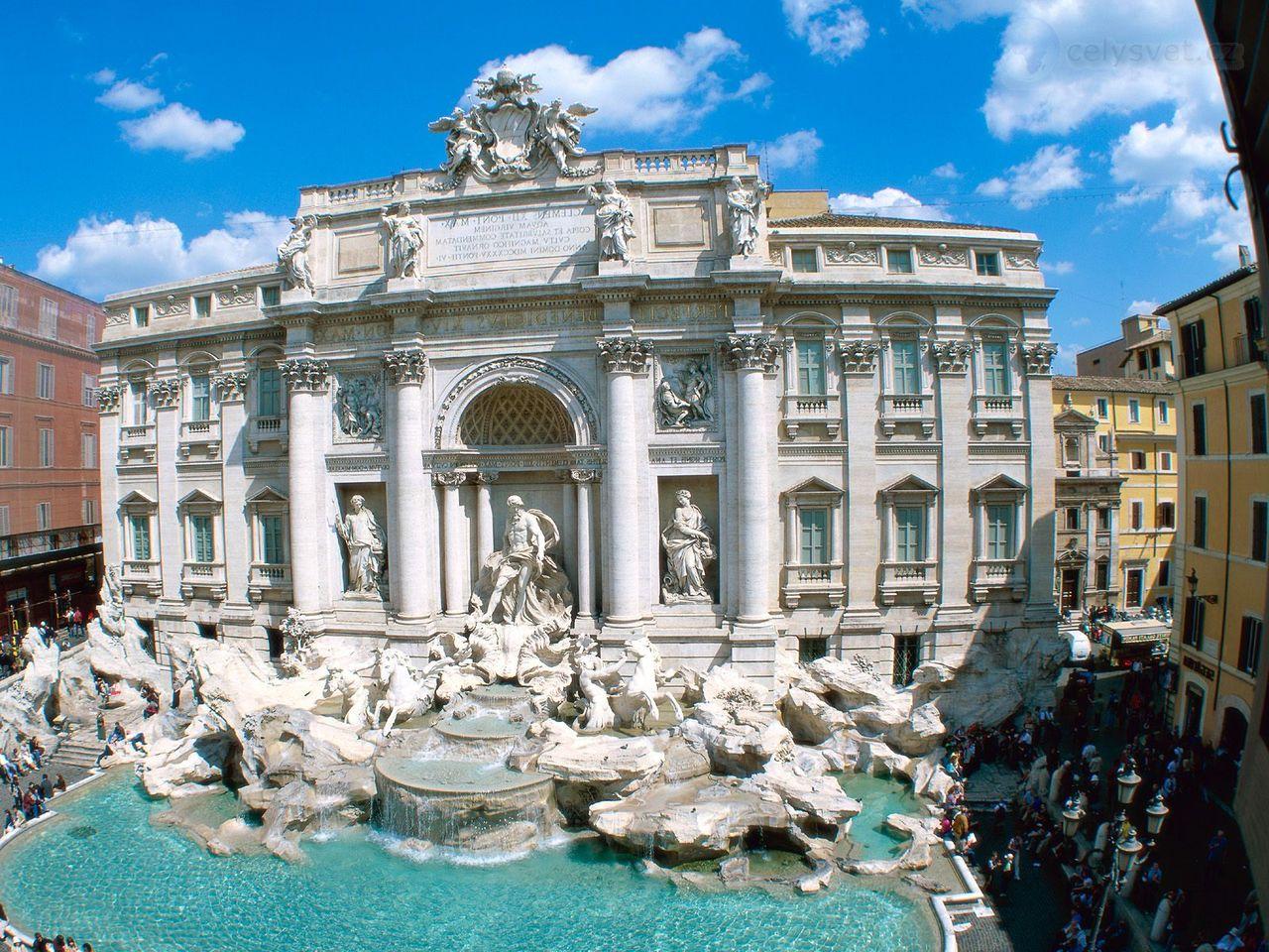 Фонтан треви рим италия trevi fountain rome