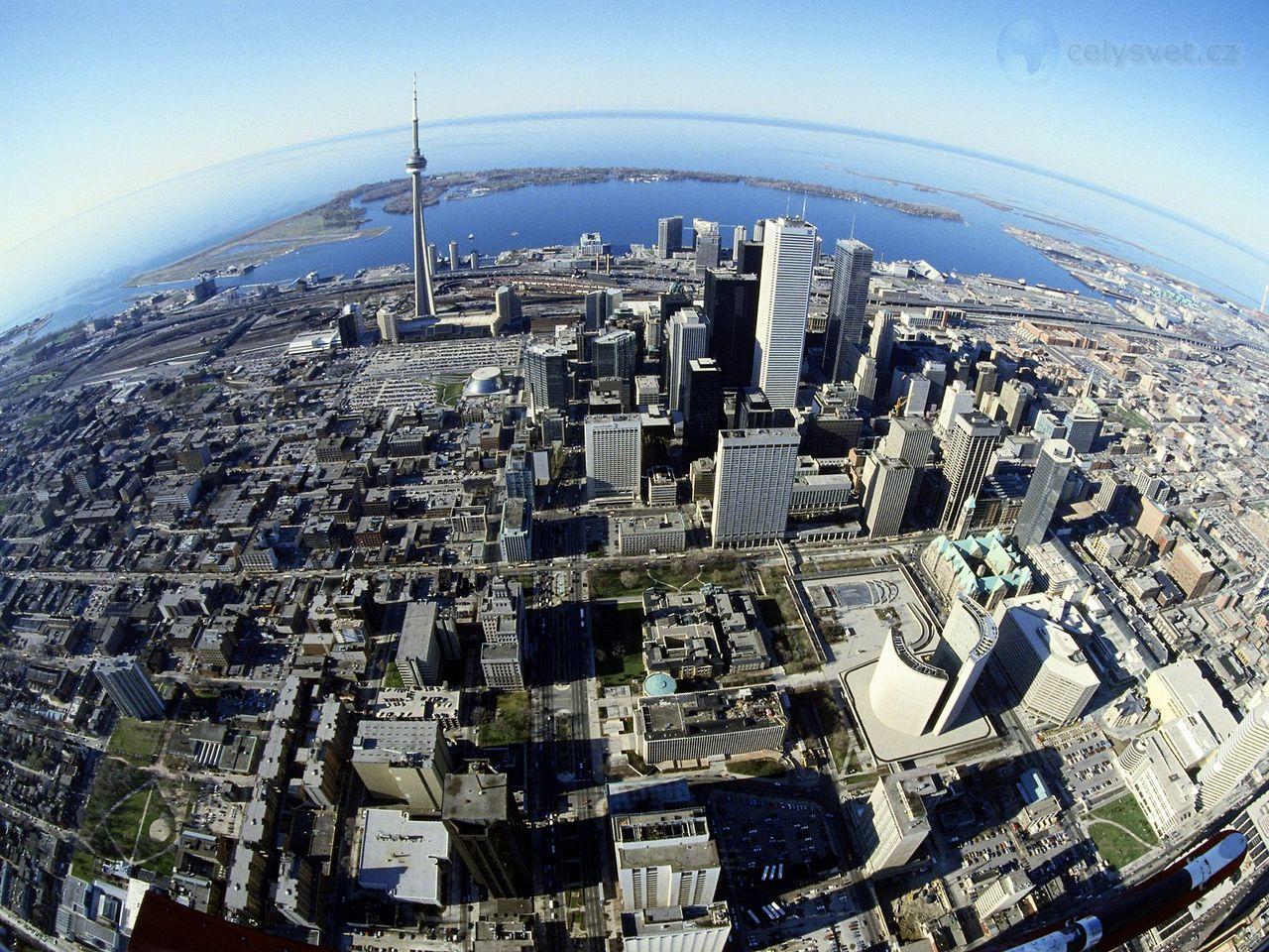 Торонто канада birds eye view of toronto canada