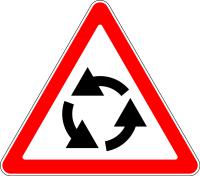 Дорожный знак: 1.7 Пересечение с круговым движением