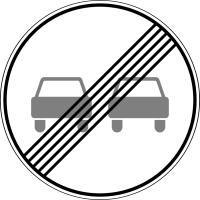 Дорожный знак: 3.21 Конец зоны запрещения обгона