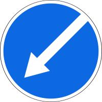 Дорожный знак: 4.2.2 Объезд препятствия слева