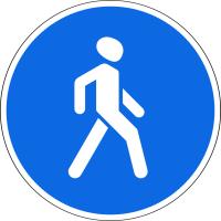 Дорожный знак: 4.5.1 Пешеходная дорожка