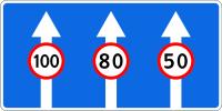 Дорожный знак: 5.15.8 Число полос