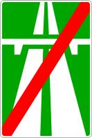 Дорожный знак: 5.2 Конец автомагистрали