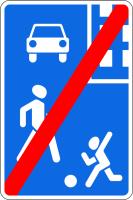 Дорожный знак: 5.22 Конец жилой зоны