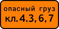 Дорожный знак: 8.19 Класс опасного груза