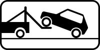 Дорожный знак: 8.24 Работает эвакуатор