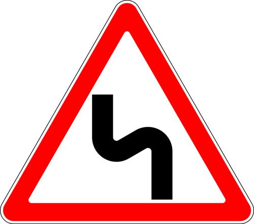 Дорожный знак: 1.12.2 Опасные повороты