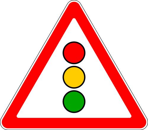 Дорожный знак: 1.8 Светофорное регулирование