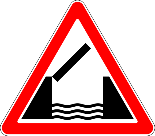 Дорожный знак: 1.9 Разводной мост
