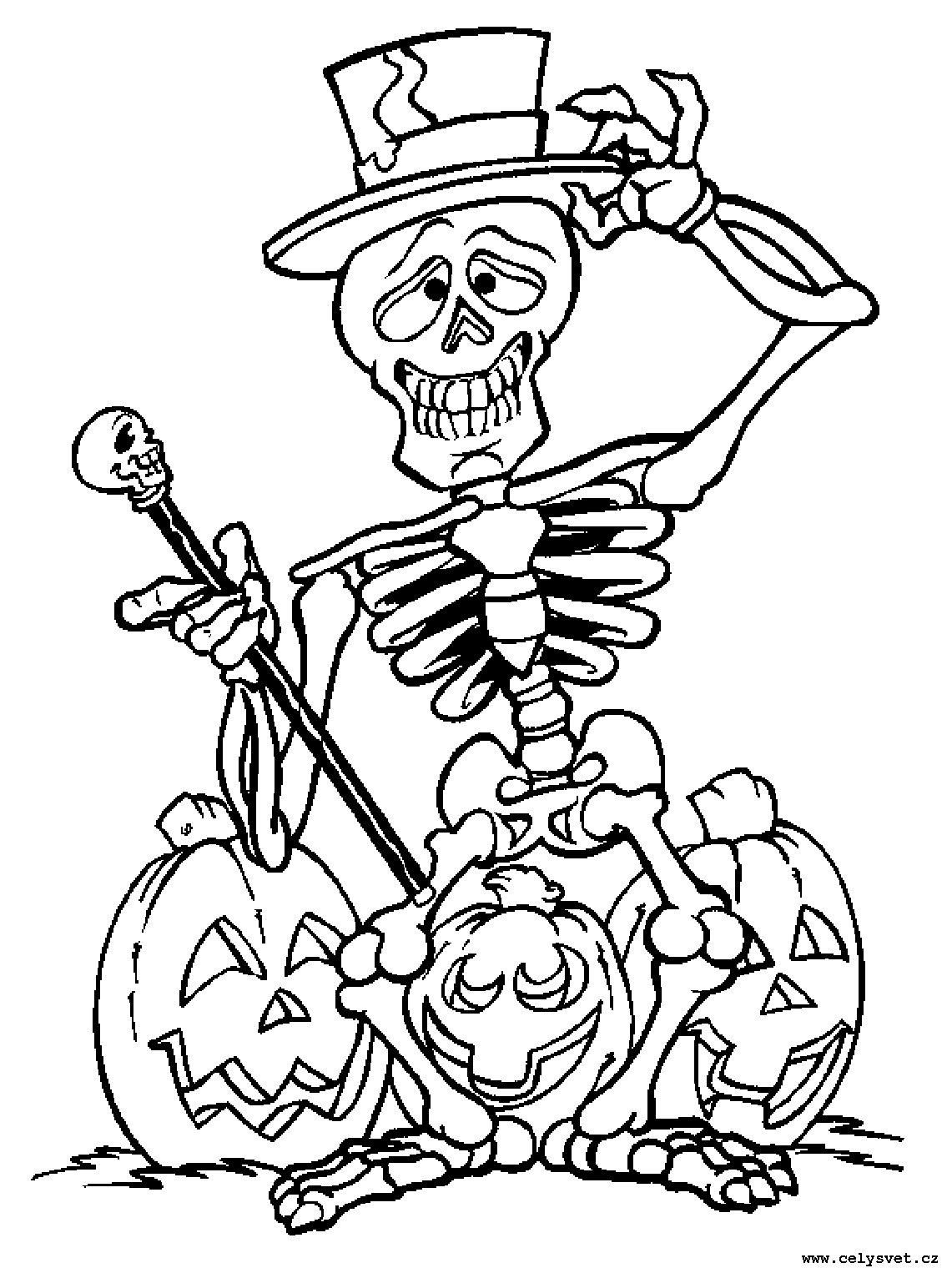 Раскраски на хэллоуин - 9