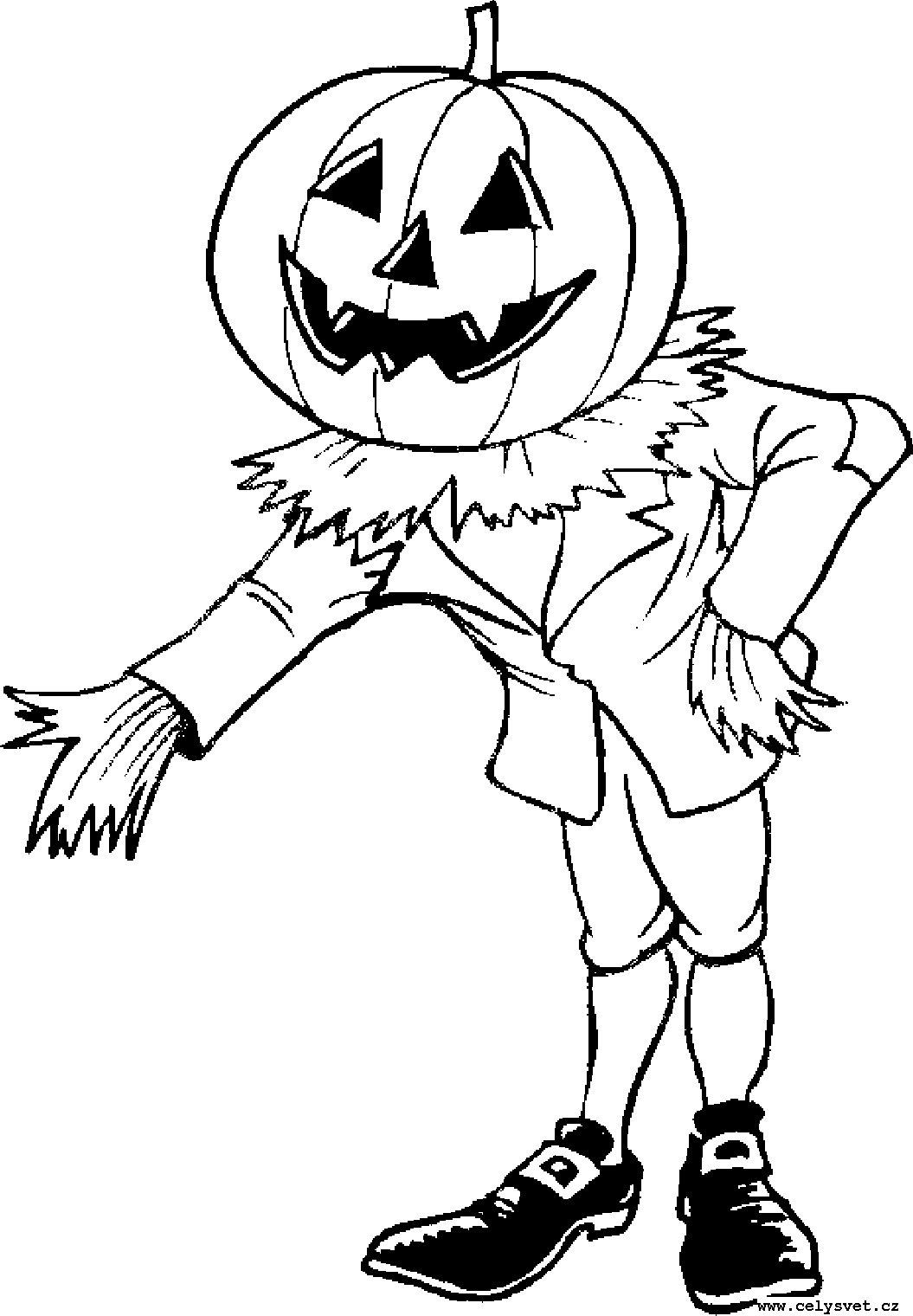 Раскраски на хэллоуин - 2
