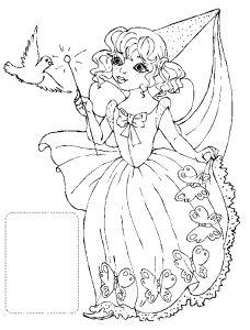 Бесплатные раскраски для девочек феи