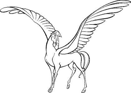 Раскраска лошади единороги