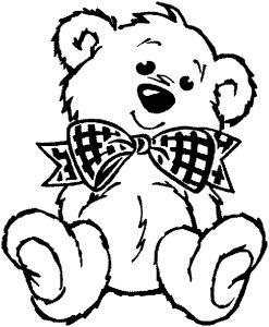 Раскраски животные медведи 6