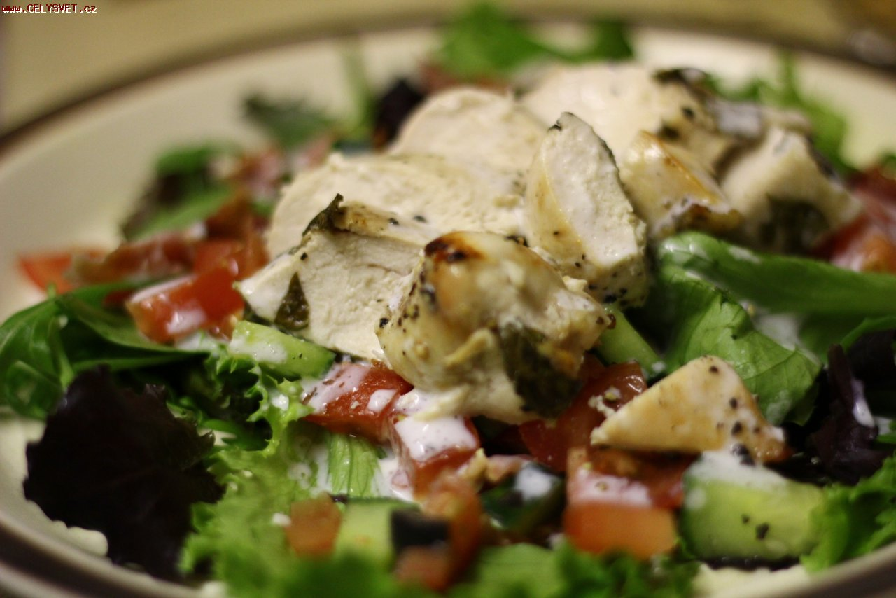 йогуртом с Летний салат